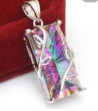 GIFT IT!  2 PENDANTS INCLUDED! 925 Stamped Sterling Silver Box Chain