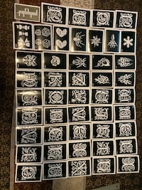 "46 medium Tattoo Drawing Template Henna Stencil Body Art 3"" by 4"" Lutherville Timonium, 21093"