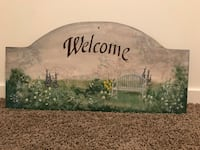 Hand painted welcome sign  Calgary, T2Z 4R2