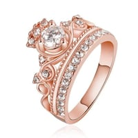 New Rose Gold Coloured Cubic Zirconia Princess Ring Toronto, M6S