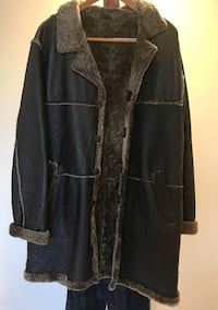 Man leather coat, size L!!!! Mill Neck