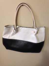 white and black leather tote bag Winnipeg, R2K 4A1