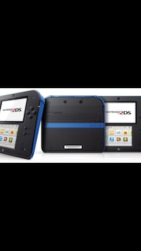 Black/blue nintendo 2ds with game cartridge Dollard-des-Ormeaux, H9B 1M7
