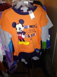 baby's yellow and blue Mickey Mouse onesie Pharr, 78577