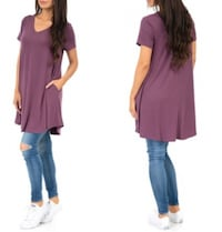 Women's Long Draped Tunic Top (Size S) 540 km