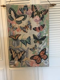 Wall decoration Needle point Butterfly tapestry to hang on the wall . Colorful Butterflies    Alexandria, 22311