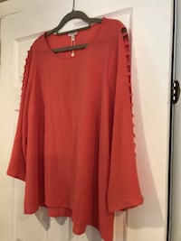 Brand new Coral pink blouse size XL フォールズチャーチ, 22046