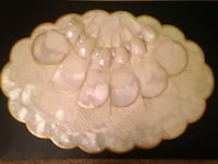 Mother of pearl place setting. Set of six placemats, coasters, napkins, and napkin holders Sherwood Park, T8H 0W2
