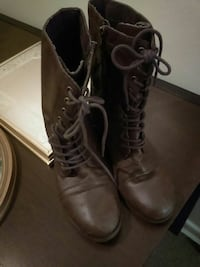 Woman brown lace up boots leather size 10  Winchester, 22602