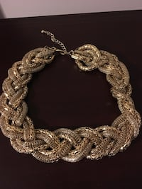 Gold Braided Necklace  Vaughan, L4H 1H9