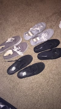 four pairs of black and gray shoes Pensacola, 32506