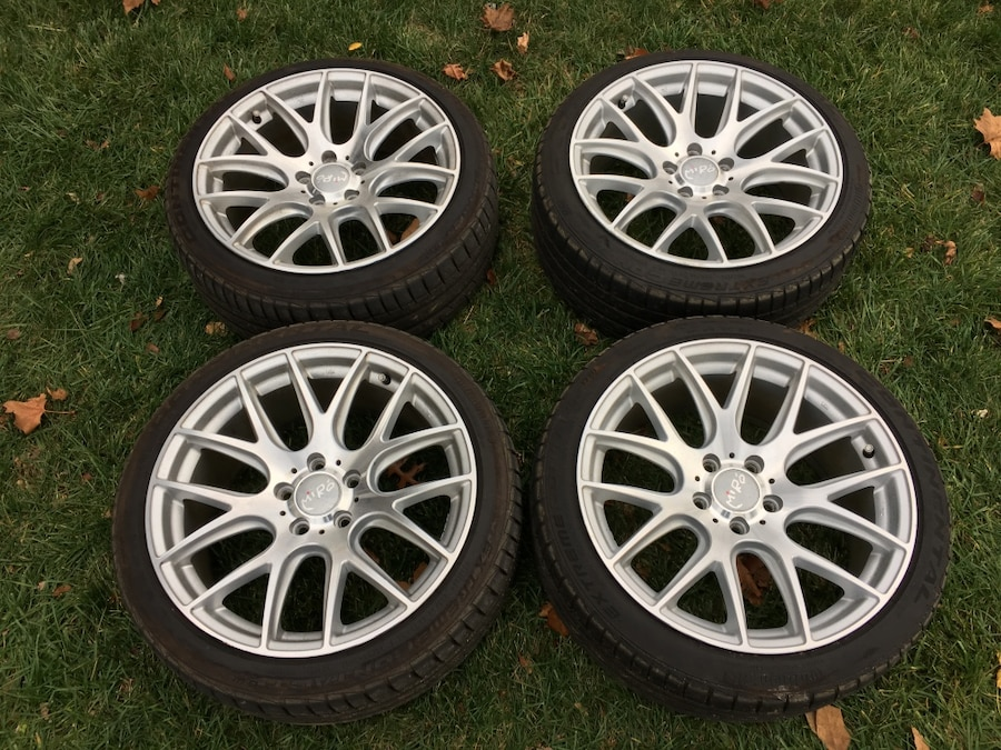Used Four Black Automotive Wheels Set In Cherry Hill