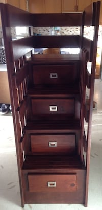 Wooden step style storage ladder with 4 drawers 250.00 obo