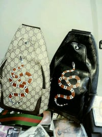 two black and brown leather backpacks Charlotte, 28208