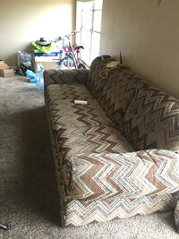 brown and black fabric sofa Lubbock, 79415