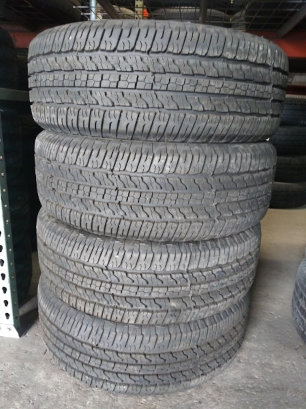 P265/70R16 GOODYEAR WRANGLER ST 99% TREADS 265/70R16 USED TIRES 265 70 16