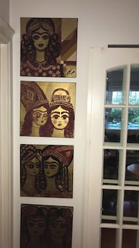 4 beautiful original painting each $$60 or all $220 Vancouver, V6H 1S7