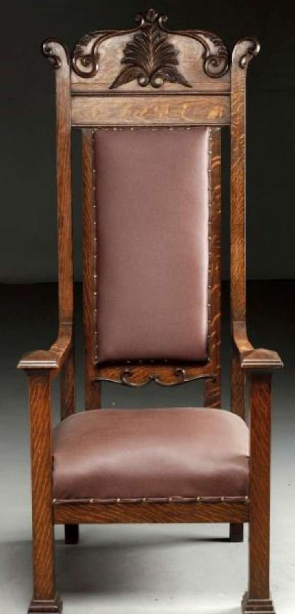 Fine Karpen Co Gothic Revival Tall Throne Chair Made Beutiful Home Inspiration Ommitmahrainfo