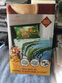Lion King bed sheets and pillow case  Toronto, M9A 4S4