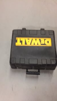 Black and yellow plastic tool box