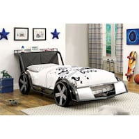 White and black car bed frame Carlsbad, 92009