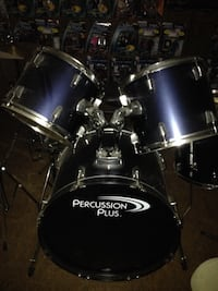 Percussion plus 5 piece deep blue drumset + add on parts Ypsilanti, 48198