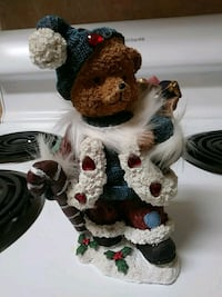 Christmas Bear with toy sack and candy cane Temperance, 48182