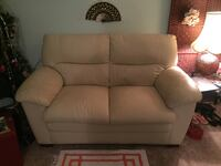 White leather sofa chair with ottoman Cambridge, N1S