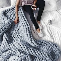 gray knitted extreme chunky blanket Amherstview, K7N 1Y8