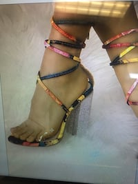 Colorful Lace up Heels  Carrollton, 23314