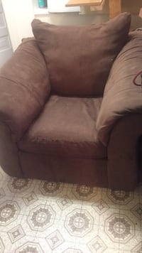 Brown and gray fabric sofa chair London