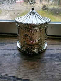 Silver plated Carousel Bank Kansas City, 64123