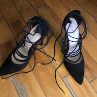 Strap up heels. Size 8.5 Montreal