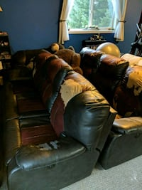 Two large power recliner sofas