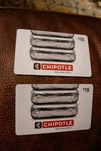 2 $15  gift cards to Chipotle