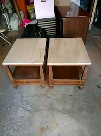 Marble top end tables Bolingbrook, 60440