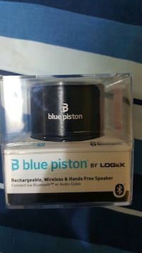 Blue piston bluetooth speaker
