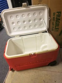 Red and white cooler Dimensions. 24 L x 13.5 w x  Virginia Beach, 23455