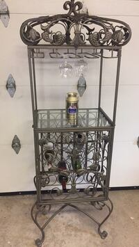 Wine rack and glass pick up only at location in Woodbridge Martin Grove and Hwy7 Vaughan, L4L 6P5