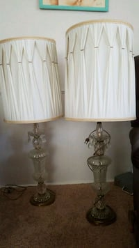 2 vintage lamps with shades Fort Myers, 33912
