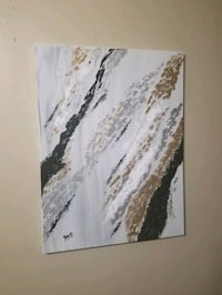 Gold and silver abstract art