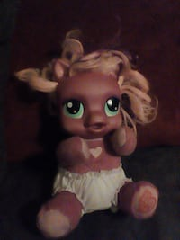 pink and white pony toy
