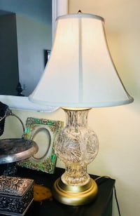 clear glass base white shade table lamp Orlando, 32837