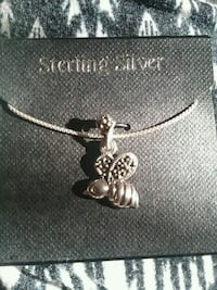 Sterling Silver bee pendant with chain
