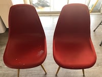2 red hipster chairs  Cerritos, 90715