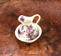white and pink floral ceramic teacup Hialeah, 33010