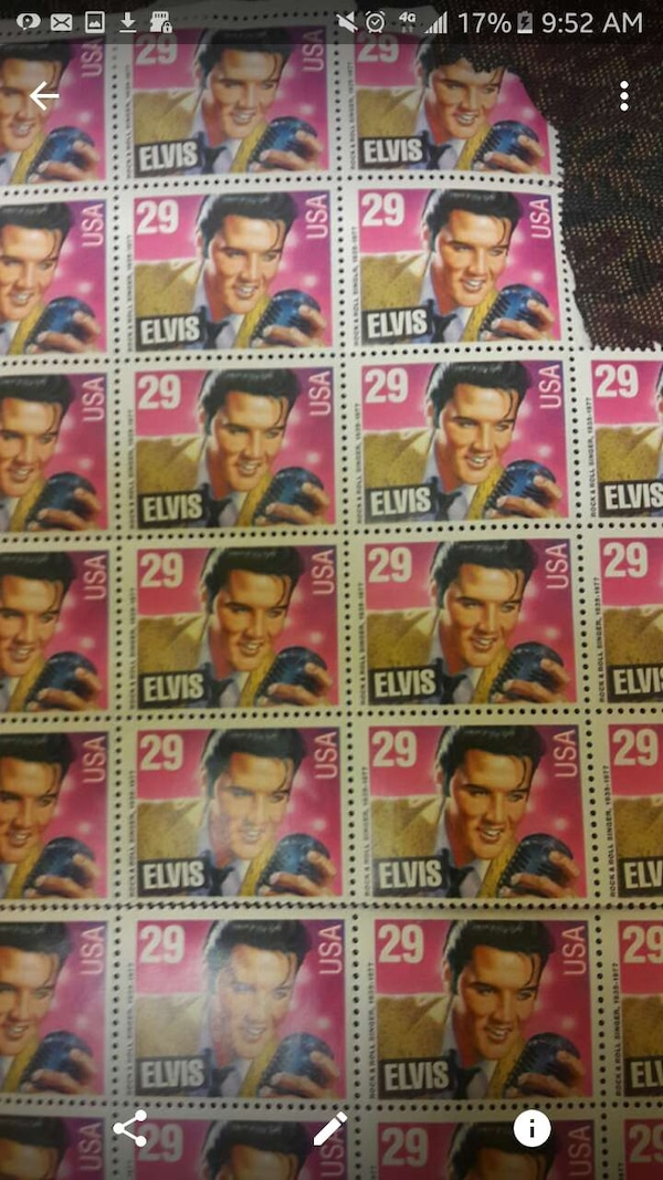 Used Elvis Collectable Stamps For Sale In Randolph