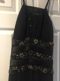 Black evening dress with beading, size 12 Vaughan, L4J 7L5