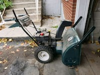 black and green snow blower 552 km