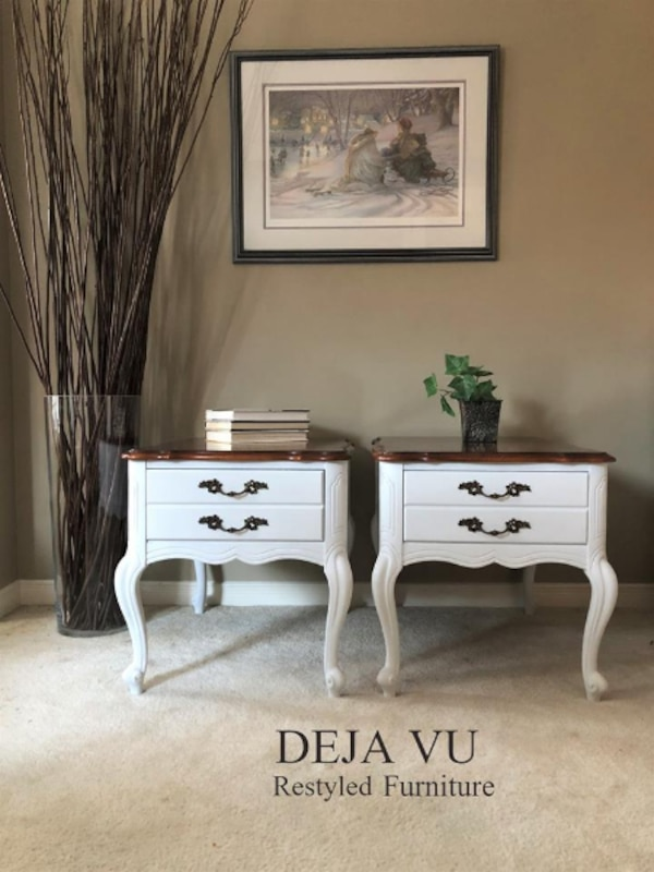 French Provincial Side Tables / End Tables